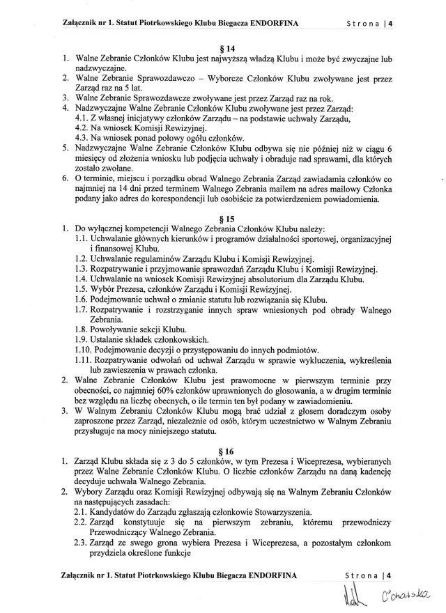 Statut PKB ENDORFINA cz.4/7