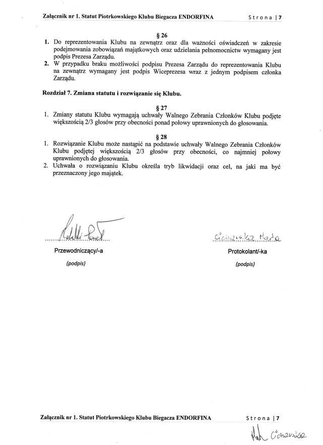 Statut PKB ENDORFINA cz.7/7