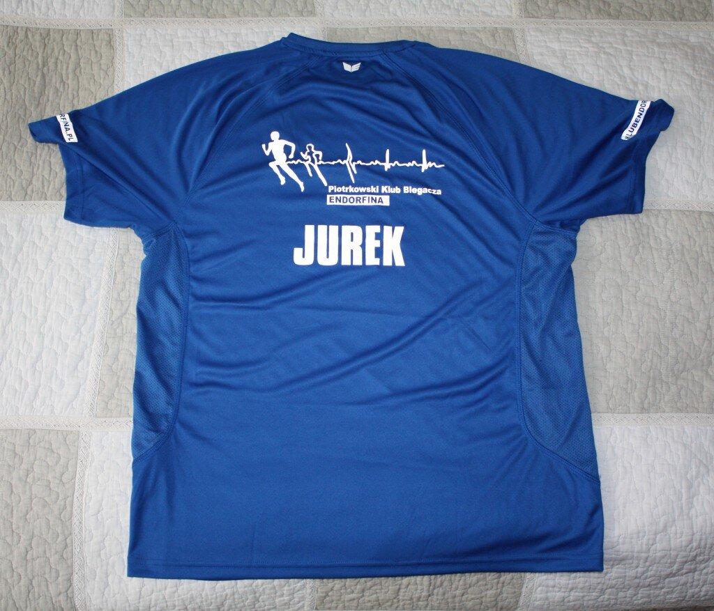 Oficjalna koszulka Piotrkowskiego Klubu Biegacza ENDORFINA (tył)