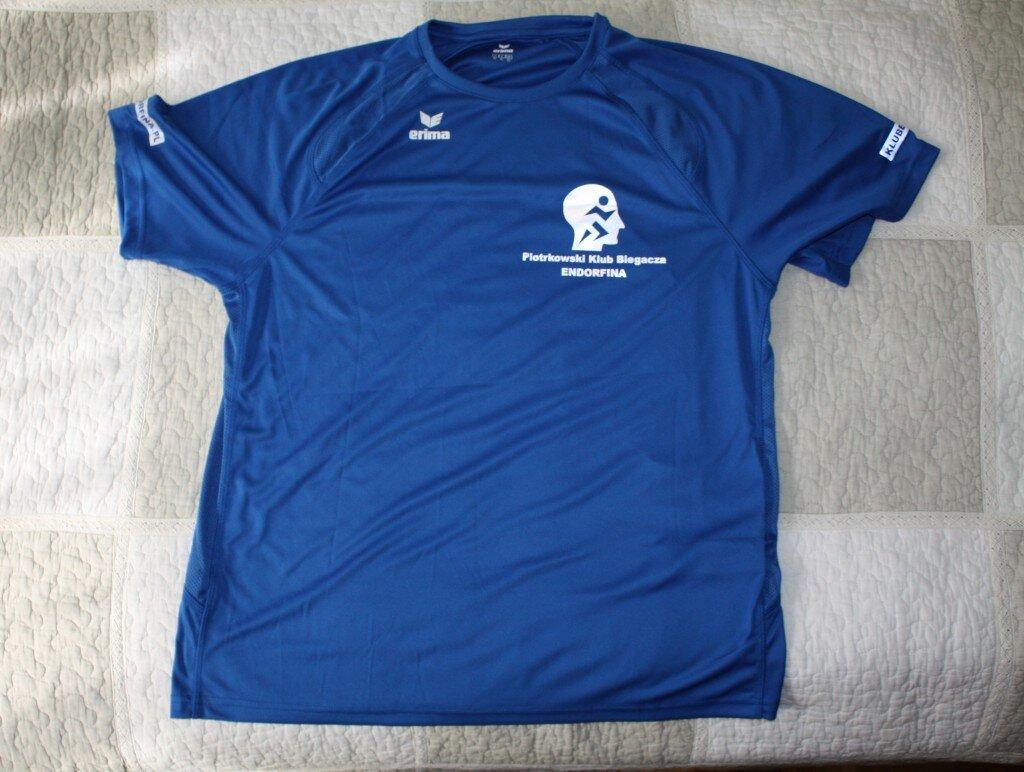 Oficjalna koszulka Piotrkowskiego Klubu Biegacza ENDORFINA (przód)