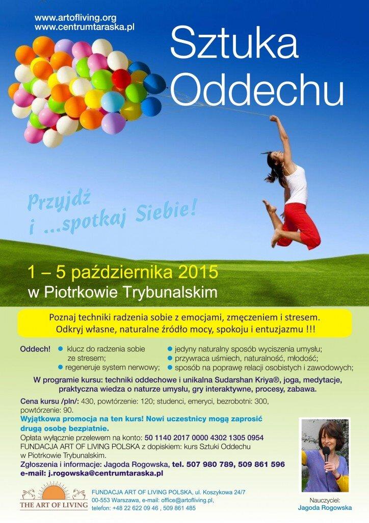 Sztuka Oddechu 1-5 października 2015 w Piotrkowie Trybunalskim