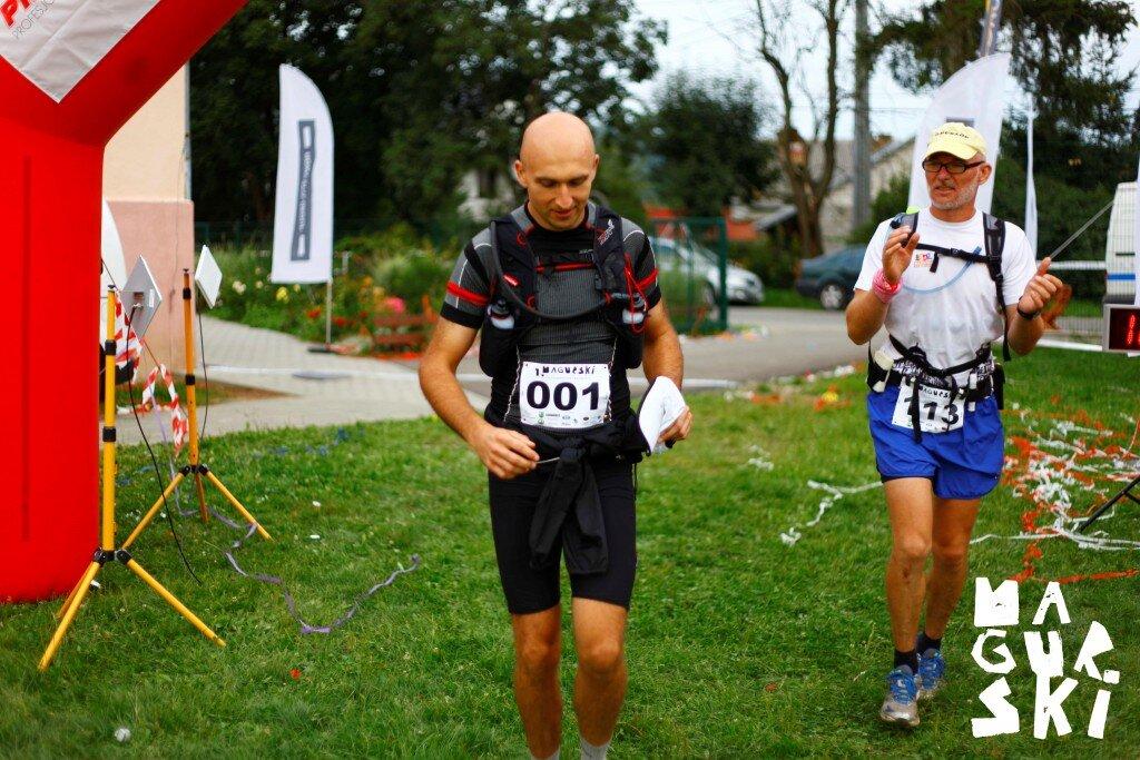 Ultramaratończycy - (od lewej) - Roman Łaski i Bogumił Zielonka