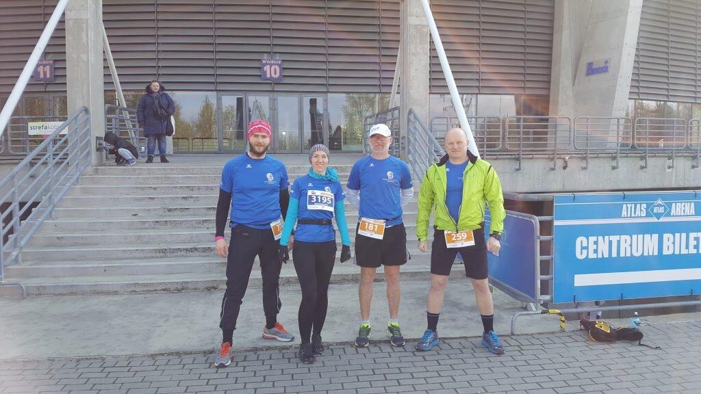 Przed DOZ Maraton w Łodzi (Paweł, Małgorzata, Bogumił, Mariusz)
