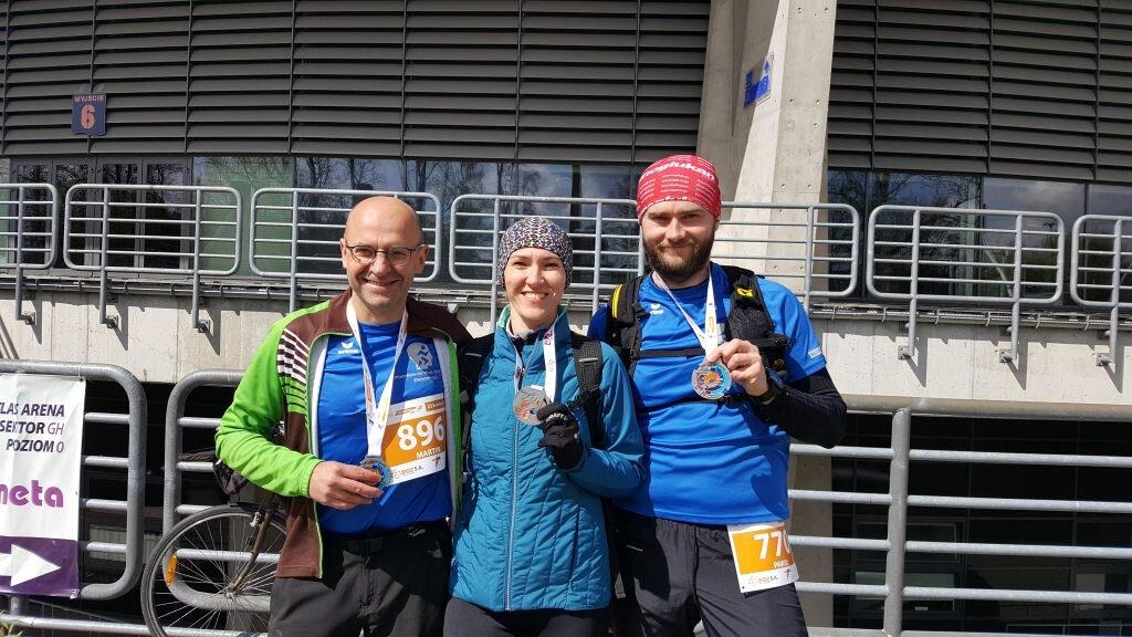 Po DOZ Maraton w Łodzi (Martin, Małgorzata, Paweł)